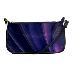Purple Fractal Shoulder Clutch Bags
