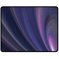 Purple Fractal Fleece Blanket (medium)  by Simbadda