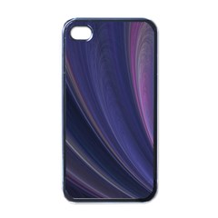 Purple Fractal Apple Iphone 4 Case (black) by Simbadda