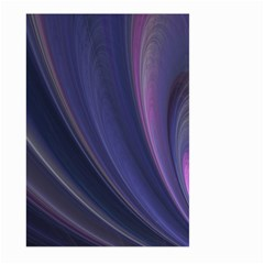 Purple Fractal Large Garden Flag (two Sides) by Simbadda