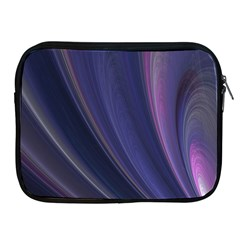 Purple Fractal Apple Ipad 2/3/4 Zipper Cases by Simbadda