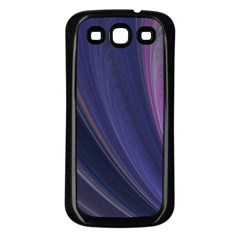Purple Fractal Samsung Galaxy S3 Back Case (black) by Simbadda