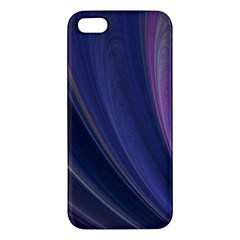 Purple Fractal Iphone 5s/ Se Premium Hardshell Case by Simbadda
