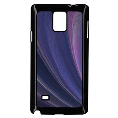 Purple Fractal Samsung Galaxy Note 4 Case (black) by Simbadda