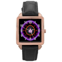 Hypocloid Rose Gold Leather Watch  by Simbadda