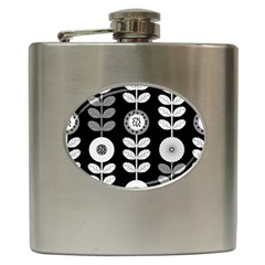 Floral Pattern Seamless Background Hip Flask (6 Oz) by Simbadda
