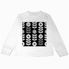 Floral Pattern Seamless Background Kids Long Sleeve T Shirts by Simbadda