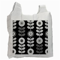 Floral Pattern Seamless Background Recycle Bag (two Side)