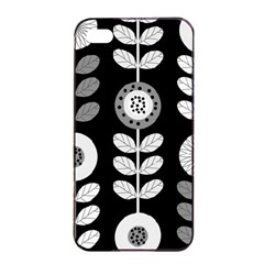 Floral Pattern Seamless Background Apple Iphone 4/4s Seamless Case (black) by Simbadda