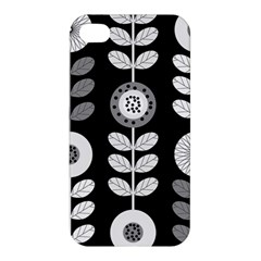 Floral Pattern Seamless Background Apple Iphone 4/4s Premium Hardshell Case by Simbadda