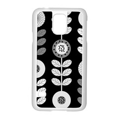 Floral Pattern Seamless Background Samsung Galaxy S5 Case (white)