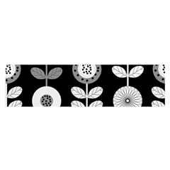 Floral Pattern Seamless Background Satin Scarf (oblong)