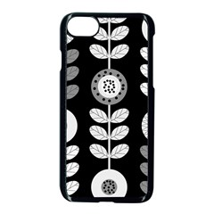 Floral Pattern Seamless Background Apple Iphone 7 Seamless Case (black)