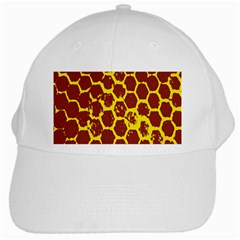 Network Grid Pattern Background Structure Yellow White Cap by Simbadda