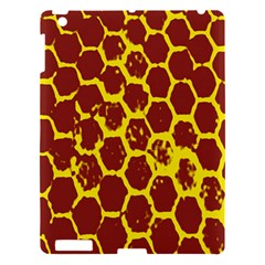 Network Grid Pattern Background Structure Yellow Apple Ipad 3/4 Hardshell Case by Simbadda
