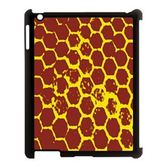 Network Grid Pattern Background Structure Yellow Apple Ipad 3/4 Case (black)
