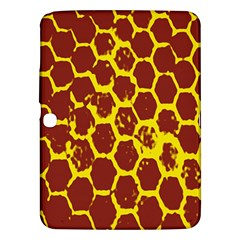 Network Grid Pattern Background Structure Yellow Samsung Galaxy Tab 3 (10 1 ) P5200 Hardshell Case