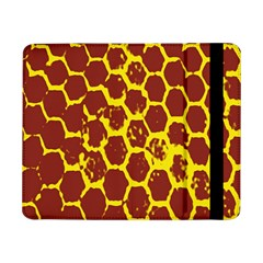 Network Grid Pattern Background Structure Yellow Samsung Galaxy Tab Pro 8 4  Flip Case