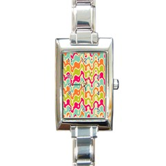 Abstract Pattern Colorful Wallpaper Rectangle Italian Charm Watch by Simbadda