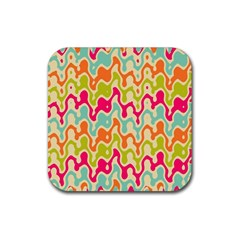 Abstract Pattern Colorful Wallpaper Rubber Coaster (square)  by Simbadda