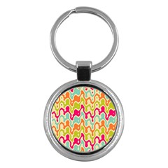 Abstract Pattern Colorful Wallpaper Key Chains (round)  by Simbadda