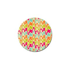 Abstract Pattern Colorful Wallpaper Golf Ball Marker (10 Pack)