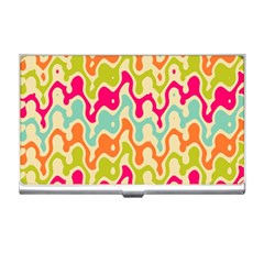 Abstract Pattern Colorful Wallpaper Business Card Holders by Simbadda