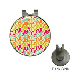 Abstract Pattern Colorful Wallpaper Hat Clips With Golf Markers by Simbadda