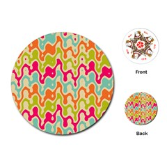 Abstract Pattern Colorful Wallpaper Playing Cards (round)  by Simbadda