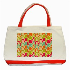 Abstract Pattern Colorful Wallpaper Classic Tote Bag (red) by Simbadda