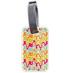 Abstract Pattern Colorful Wallpaper Luggage Tags (one Side)  by Simbadda