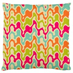 Abstract Pattern Colorful Wallpaper Large Cushion Case (one Side) by Simbadda