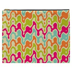 Abstract Pattern Colorful Wallpaper Cosmetic Bag (xxxl)  by Simbadda