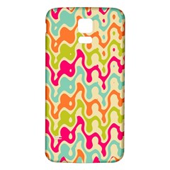 Abstract Pattern Colorful Wallpaper Samsung Galaxy S5 Back Case (white) by Simbadda