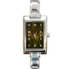 Fractal Rain Rectangle Italian Charm Watch by Simbadda