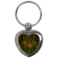 Fractal Rain Key Chains (heart)  by Simbadda