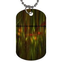 Fractal Rain Dog Tag (two Sides) by Simbadda
