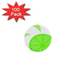 Fruit Lime Green 1  Mini Buttons (100 Pack)  by Alisyart