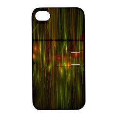 Fractal Rain Apple Iphone 4/4s Hardshell Case With Stand by Simbadda