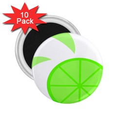Fruit Lime Green 2 25  Magnets (10 Pack)