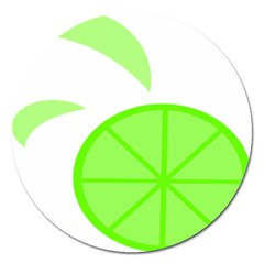 Fruit Lime Green Magnet 5  (round) by Alisyart