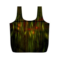 Fractal Rain Full Print Recycle Bags (m)  by Simbadda