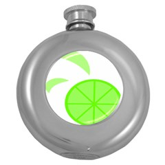 Fruit Lime Green Round Hip Flask (5 Oz) by Alisyart