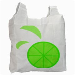 Fruit Lime Green Recycle Bag (one Side) by Alisyart
