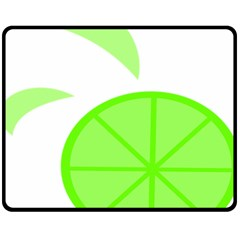 Fruit Lime Green Fleece Blanket (medium)