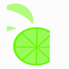 Fruit Lime Green Small Garden Flag (two Sides) by Alisyart