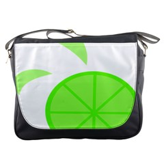 Fruit Lime Green Messenger Bags by Alisyart