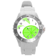 Fruit Lime Green Round Plastic Sport Watch (l) by Alisyart