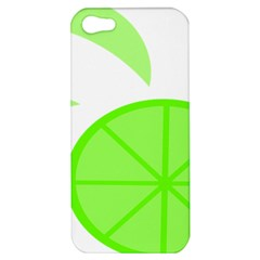Fruit Lime Green Apple Iphone 5 Hardshell Case by Alisyart