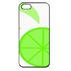 Fruit Lime Green Apple Iphone 5 Seamless Case (black) by Alisyart